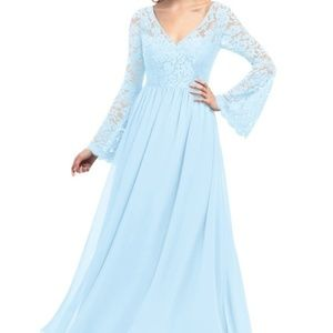 Azazie Hurley Bridesmaid Dress-Sky Blue